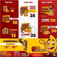 vaiCoxinha / (fast food), Peças Gráficas e Publicidade, Alimentos & Bebidas