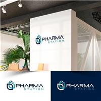 Pharma Station, Logo e Identidade, Tecnologia & Ciencias
