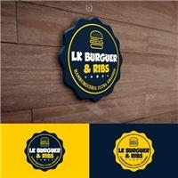 LK BURGUER & RIBS, Logo e Identidade, Alimentos & Bebidas