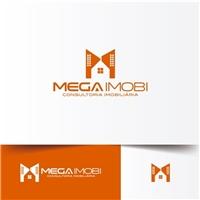 Mega Imobi Consultoria Imobiliária, Logo e Identidade, Imóveis