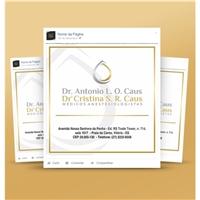 Dr. Antonio L O Caus e Dra. Cristina S R Caus - Médicos Anestesiologistas, Logo e Identidade, Saúde & Nutrição