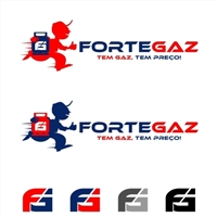 FORTEGAZ , Logo e Identidade, Logística, Entrega & Armazenamento