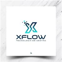 XFlow, Logo e Identidade, Tecnologia & Ciencias