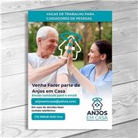 ANJOS EM CASA. CUIDADORES DE PESSOAS EM DOMICÍLIO, Peças Gráficas e Publicidade, Saúde & Nutrição
