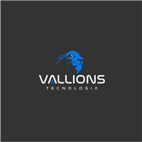 Vallions Tecnologia (desenv. de Softwares e suporte de TI p Empresas), Logo e Identidade, Tecnologia & Ciencias