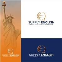 Supply English - Inglês para Comércio Exterior, Logo e Identidade, Educação & Cursos