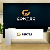 CONTEG - Soluções Contábeis , Logo e Identidade, Contabilidade & Finanças