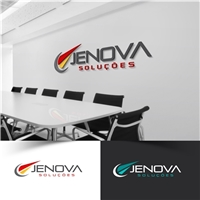 Jenova Soluções, Logo e Identidade, Computador & Internet
