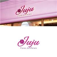 Juju Flores Artificiais, Logo e Identidade, Decoração & Mobília