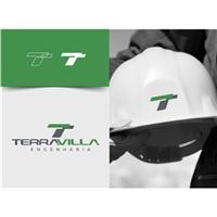 Terravilla Engenharia Ltda, Logo e Identidade, Construção & Engenharia