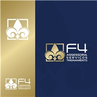 F4 - Assessoria & Serviços Aeroportuários, Logo e Identidade, Educação & Cursos