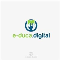 E-DUCA.DIGITAL, Logo e Identidade, Educação & Cursos