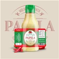 Marca: PAPILA / Produto: Molho Pimenta, Embalagens de produtos, Alimentos & Bebidas