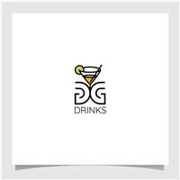 DG Drinks, Logo e Identidade, Alimentos & Bebidas