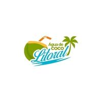 Água de coco Litoral, Logo e Identidade, Alimentos & Bebidas
