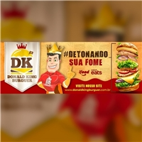 Donald King burger, Marketing Digital, Alimentos & Bebidas