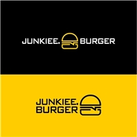JUNKIEE. BURGER , Logo e Identidade, Alimentos & Bebidas