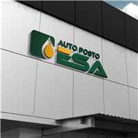 Auto Posto ESA , Logo e Identidade, Automotivo