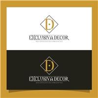 Exclusiva Decor, Logo e Identidade, Decoração & Mobília