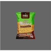 farinha de mandioca marca RAIZ NATURAL, Embalagens de produtos, Alimentos & Bebidas