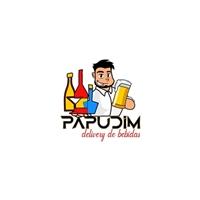 Papudim - Delivery de Bebidas, Logo e Identidade, Alimentos & Bebidas