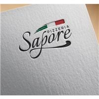 SAPORE PIZZERIA, Logo e Identidade, Alimentos & Bebidas