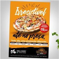 Pizzaria Del Monte, Peças Gráficas e Publicidade, Alimentos & Bebidas
