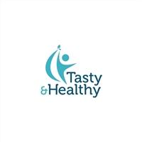Tasty&Healthy (no site domino infelizmente tera de ser TastyandHealthy, Logo e Identidade, Saúde & Nutrição