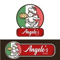 Angelo's Pizzas, Logo e Identidade, Alimentos & Bebidas