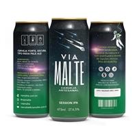 Cervejaria Via Malte (o nome faz alusão à Via Láctea), Embalagens de produtos, Alimentos & Bebidas