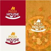 PIZZA HOUSE, Logo e Identidade, Alimentos & Bebidas