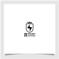 2e Instalações Elétricas, Logo e Identidade, Construção & Engenharia