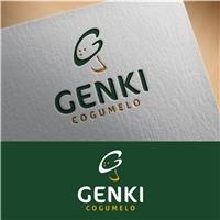 Cogumelo Genki, Logo e Identidade, Alimentos & Bebidas