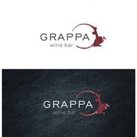 GRAPPA WINE BAR, Logo e Identidade, Alimentos & Bebidas