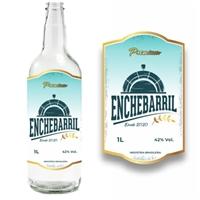 Cachaça EncheBarril, Logo e Identidade, Alimentos & Bebidas