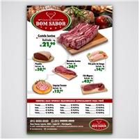 Casa de Carne Bom Sabor, Peças Gráficas e Publicidade, Alimentos & Bebidas