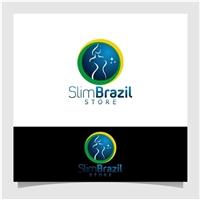 Slim Brazil Store, Logo e Identidade, Saúde & Nutrição
