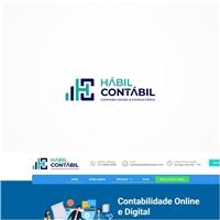 Hábil Contábil, Logo e Identidade, Contabilidade & Finanças
