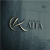 CLÍNICA ALFA a, Logo e Identidade, Saúde & Nutrição