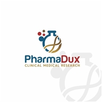 PharmaDux Clinical Medical Research (Pharma=farmacêutica; Dux de líder, Logo e Identidade, Tecnologia & Ciencias