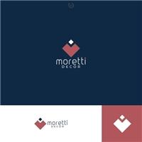 MORETTI DECOR, Logo e Identidade, Decoração & Mobília