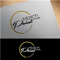 MATCH POINT lOUNGE, Logo e Identidade, Alimentos & Bebidas