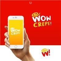 Wow Crepe!, Logo e Identidade, Alimentos & Bebidas