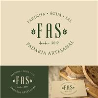 FAS - FARINHA.AGUA.SAL, Logo e Identidade, Alimentos & Bebidas