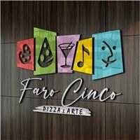 Faro Cinco. Pizza e arte, Logo e Identidade, Artes, Música & Entretenimento