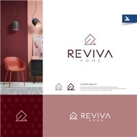 Reviva Home, Logo e Identidade, Decoração & Mobília