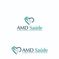 ASSUNCAO E MADEIRA DIAGNOSTICOS LTDA EPP- (AMD SAÚDE)- , Logo e Identidade, Saúde & Nutrição