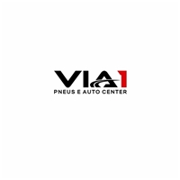 VIA 1 PNEUS E AUTO CENTER, Logo e Identidade, Automotivo