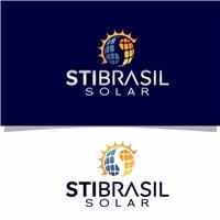 STI BRASIL SOLAR, Logo e Identidade, Construção & Engenharia