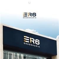 ER6 ENGENHARIA, Logo e Identidade, Construção & Engenharia